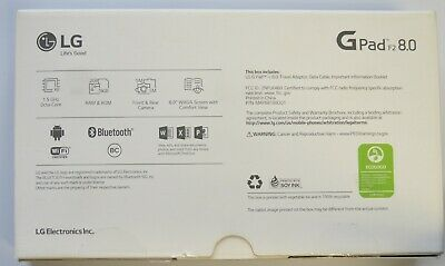 LG G Pad F2 16 GB Black Sprint NEW