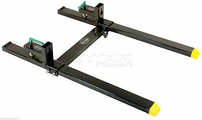 Titan 43 Hd Clamp On Pallet Forks 4000 Lb Capacity W Stabilizer Bar