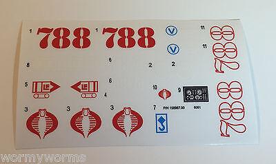 GI Joe Cobra HISS H.I.S.S. Sticke Decal Sheet