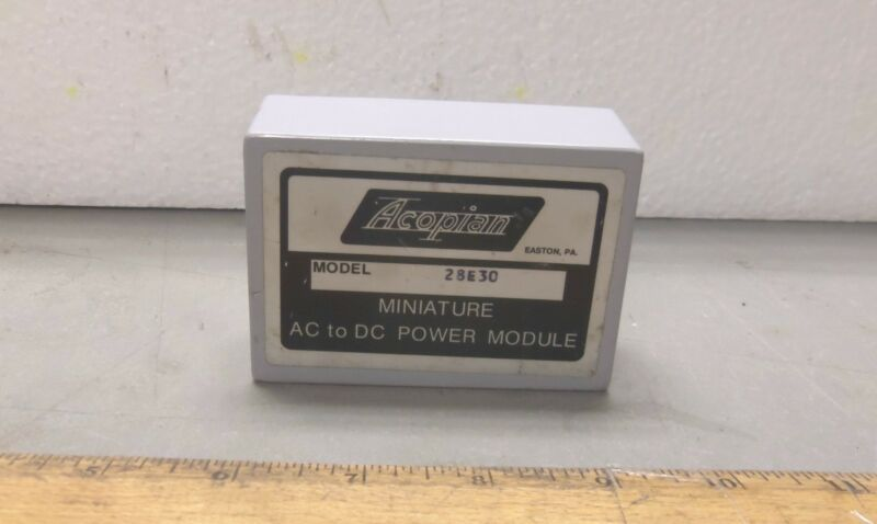 Acopian Power Supply Model 28E30 - Miniature AC to DC Power Module (NOS)