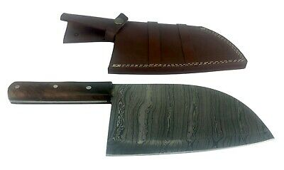 Damascus Steel Cleaver 7