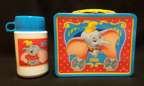 Authentic Disney DUMBO LUNCHBOX and THERMOS Excellent Condition Metal