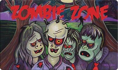 Toland Zombie Zone 18 x 30 Decorative Spooky Halloween Floor Mat Doormat