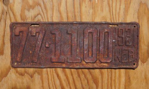 1931 Nebraska License Plate # 77 - 1100