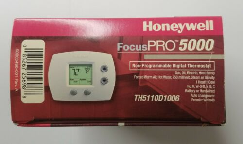 Honeywell Focus Pro 5000 Non Programable Digital Thermostat TH5110D1006 FreeShip