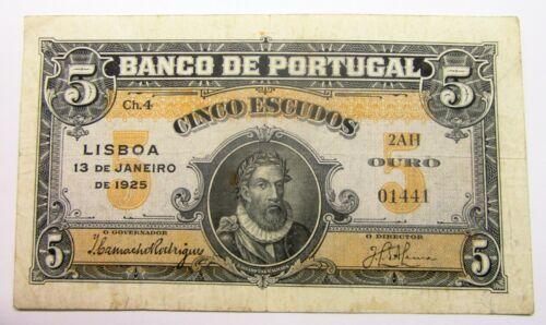 5 Escudos 1925  RARE