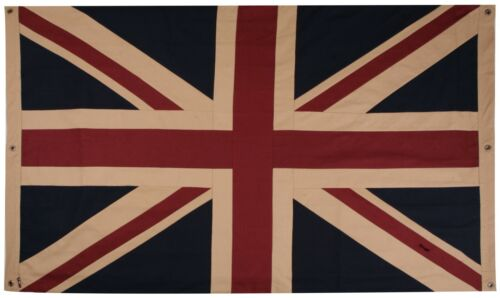 "Union Jack Flag 40"" x 20"", double sided, with an authentic aged appearance"