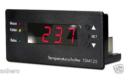Temperaturschalter,Temperaturregler,Thermostat TSM 125, digitale Anzeige, Fühler