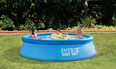 Intex 10ft X 30in Easy Set Above Ground Swimming Pool, No Pump, SHIPS TODAY