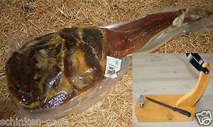 (8,90€/kg) Orig. Serrana Paleta Serrano Schinken + Halter + Messer Schinken-Oase