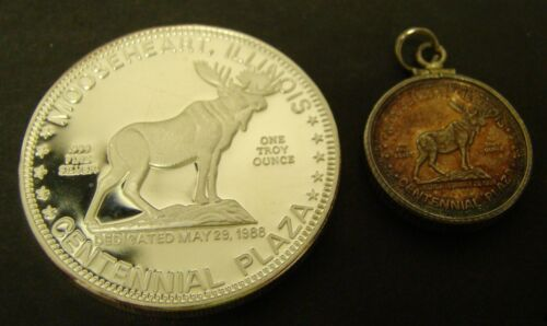 1988 Mooseheart Silver 1 OZ Round 1/4 Round Lot of 2 .999 Loyal Order of MOOSE