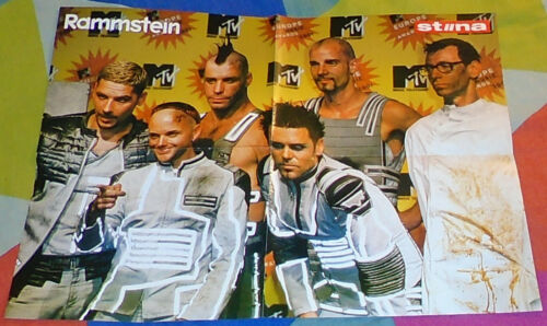 RAMMSTEIN / JAY-Z SCARCE ESTONIAN FOLD OUT POSTER 2001 IN MINT CONDITION LOOK!!!
