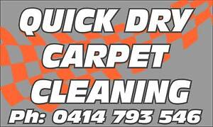 QuickDry Carpet Cleaning End of Lease 3 Rooms $75 FreeDeodorising Pooraka Salisbury Area Preview