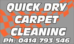QuickDry Carpet Cleaning New Year Cleanup 3 Rooms$75 End of Lease Pooraka Salisbury Area Preview