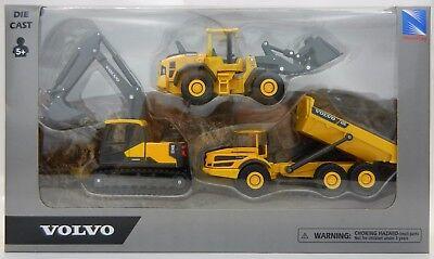 3pc SET 1:64 *VOLVO* Model EC140 EXCAVATOR A25G Dump Truck L60H Wheel Loader