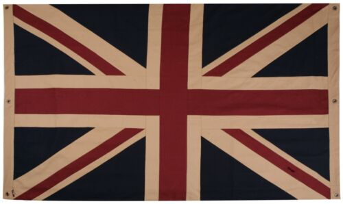 "Double sided, Vintage style Union Jack Flag 60"" x 40"" or 40"" x 20"" in cotton"