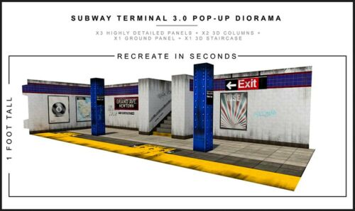 "Extreme-Sets Subway Terminal 3.0 Diorama 1/12 Scale for 6""-7"" Action Figures"