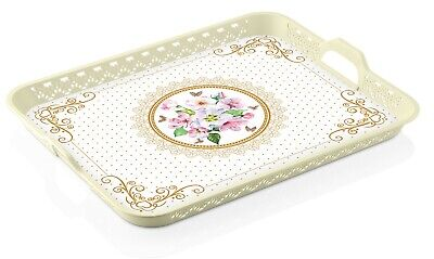 Floral Design Kitchen Tray For Indoor/Outdoor, BPA Free, MADE IN TURKEY