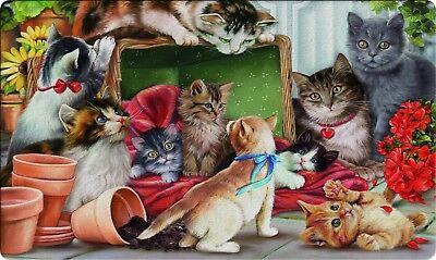 Toland Christmas Kitties 18 x 30 Decorative Holiday Cat Floor Mat Doormat Holiday Floor Mat