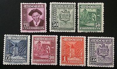 Spanisch Andorra  ungebraucht Mi. Nr. 44 bis 50