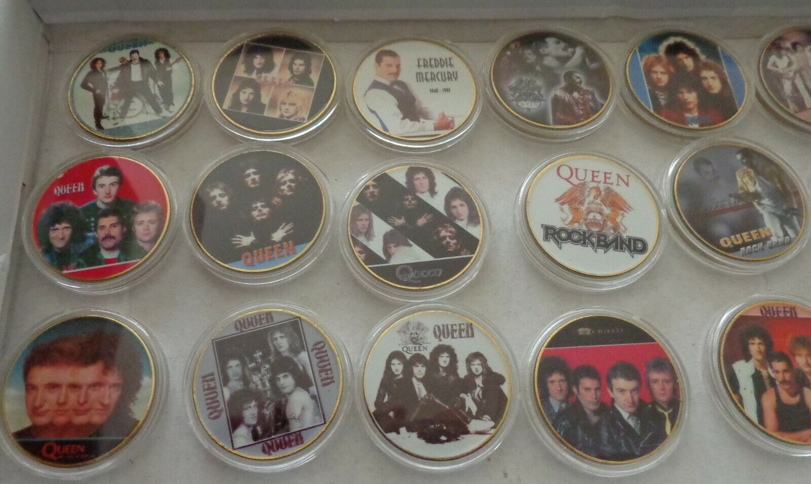 Set Of 17 Coins Freddie Mercury QUEEN POP ROCK MUSIC 24K GOLD PLATED COIN - $100.00