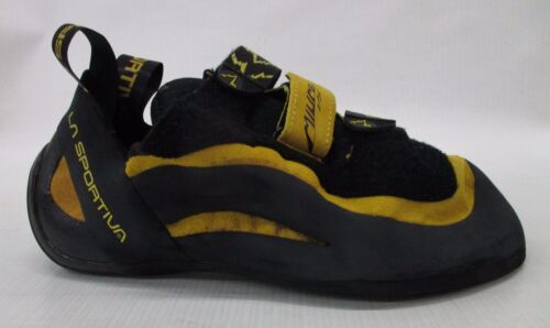 La Sportiva Mens Miura VS Rock Climbing Shoes 555 Yellow/Black Size 44.5 US 11