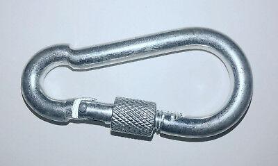 "3.5"" Heavy Duty Metal Screw Lock Carabiner Hook Snap Clip D-Ring Outdoor Camping"