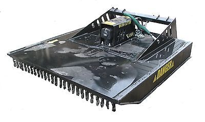 "72"" HEAVY DUTY MOWER W/CHAINS, BUSH HOG, BRUSH CUTTER SKIDSTEER ATTACHMENT"