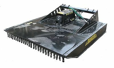 72 Heavy Duty Mower Wchains Bush Hog Brush Cutter Skidsteer Attachment