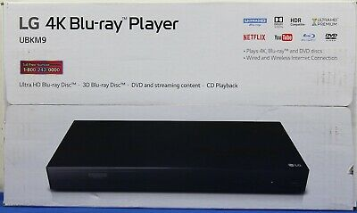 LG UBKM9 Streaming Ultra-HD Blu-Ray Player with Streaming Services and Wifi NEW