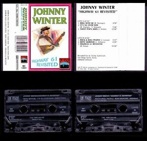 JOHNNY WINTER - HIGHWAY 61 REVISITED (LIVE) - ITALY CASSETTE ON STAGE 1992