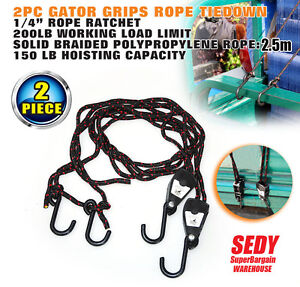 2pc Tie Down Rope Straps 1/4