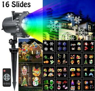 Led Projector Light Show Halloween Xmas Holiday Decoration 16 Slides Dynamic New Light Xmas Ornament