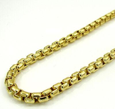 - Mens Womens 10K Yellow Gold Venetian Box Chain Necklace 16-22 Inch 1.5mm