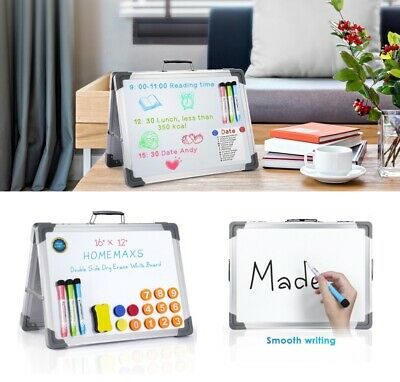 16x12 Magnetic Whiteboard Large White Board Dry Wipe Notice Office School Home