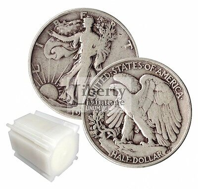 $10 Face Value - Walking Liberty Half Dollars U.S. 90% Silver Lot - 20 Coin Roll