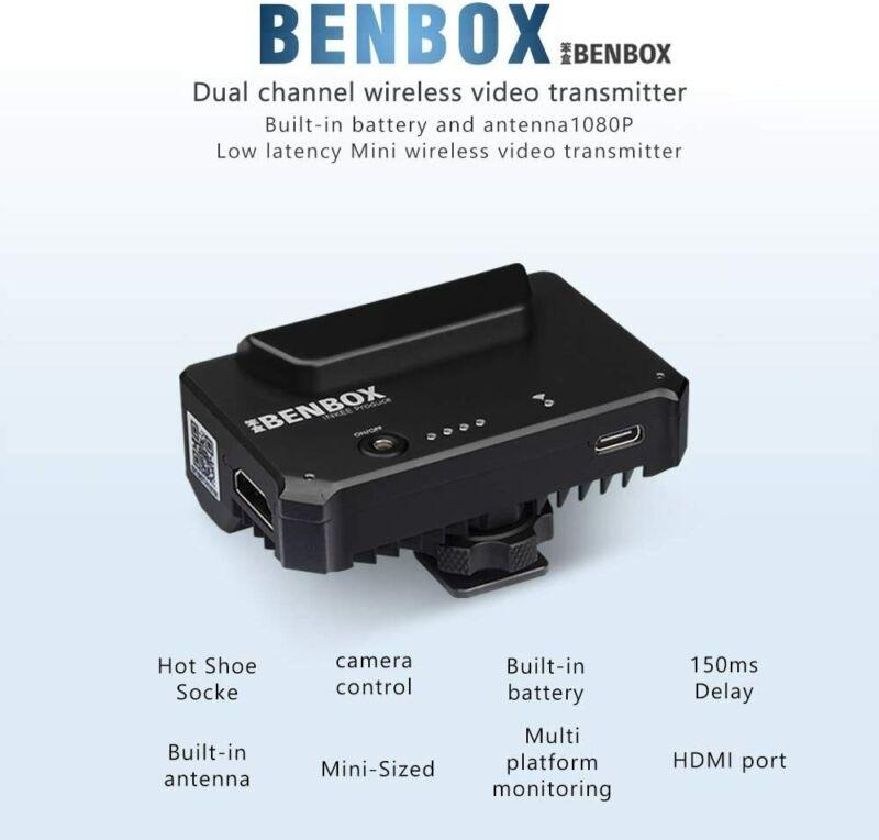 INKEE Benbox Video Transmitter Wireless 2.4G/5G Video Image Transmitter For DSLR