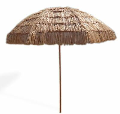 Natural 8FT Tilt Hula Thached Tiki Tropical Hawaiian Beach Patio Straw Umbrella](Hawaiian Patio)