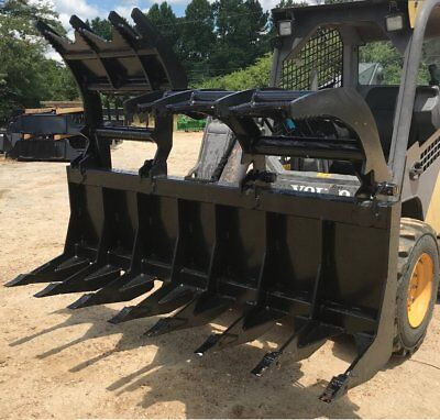 2019 Mtl Attachments 72 X-talon Series-root Grapple-clam-twin Upper-brush-rake