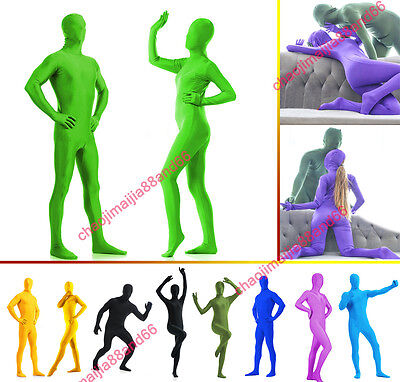 Full Body Bright Lycra Spandex Zentai Suit Costume Party Skin Tight Select color](Body Costumes)