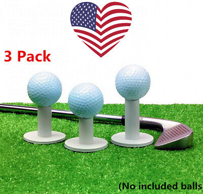 Rubber Tees Holder For Golf Driving Mat Range Tee Durable 3 Pack Practice US - Tees Driving Range
