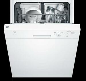 Up To $200 OFF Select Kenmore Dishwashers! Sale Ends Soon! Hybrid Stainless Steel Tub Dishwasher, White  + More Options!