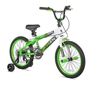 "New Kent Boys Action Zone Bike, 18"", Green/White, PICKUP ONLY - DI11"