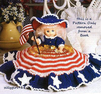 """Шаблоны """"PATRIOTIC BED DOLL""""~Crochet PATTERN~PATTERN ONLY"""