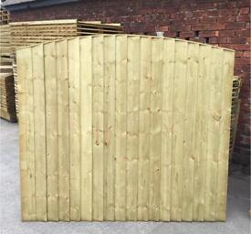 TANALISED HIGH QUALITY ARCH TOP GARDEN FENCE PANELS 🌳