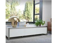 Dwell Steel Frame TV Unit Large White | RRP £599