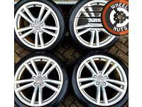 "18"" Genuine Audi A3 S Line alloys Golf Caddy Leon good cond Dunlop tyres."