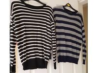 2 Gorgeous Stripey Jumpers Size UK 6 & UK 8