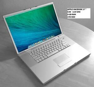 "APPLE MACBOOK PRO 17"" Intel C2D 2.33GHZ 4GB 1TB RADEON + FINAL CUT PRO X+ LOGIC PRO X +  MASTER SUITE DE ADOBE CS6"