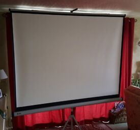 NoBo projector screen, 1.75m x 1.325m